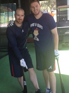 Ryan Doumit and Freddie Freeman